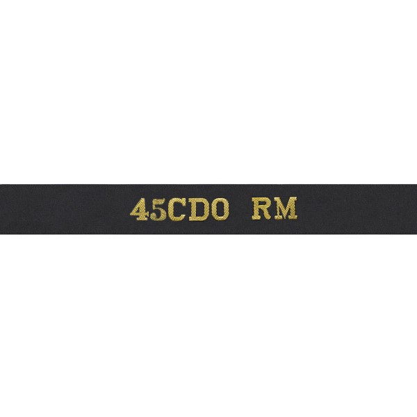 45CDO RM - Royal Navy Cap Tally