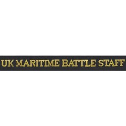 UK Maritime Battle Staff Cap Tally - Royal Navy