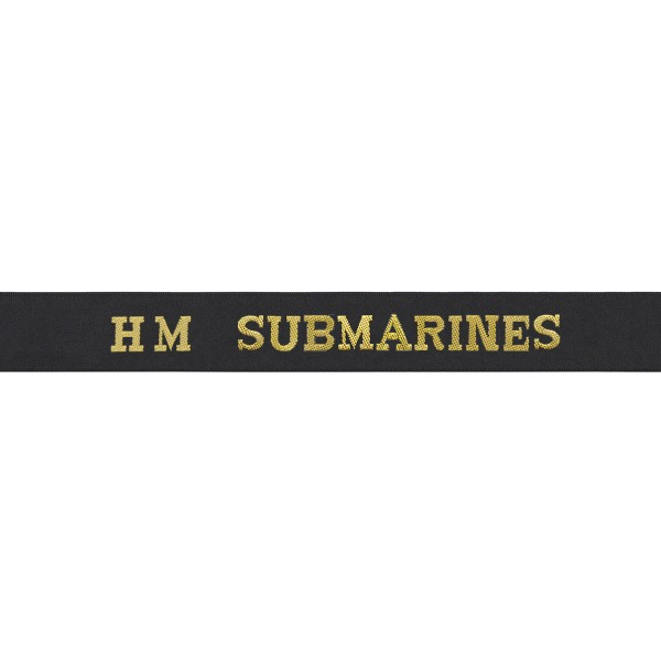 HM Submarines Cap Tally - Royal Navy
