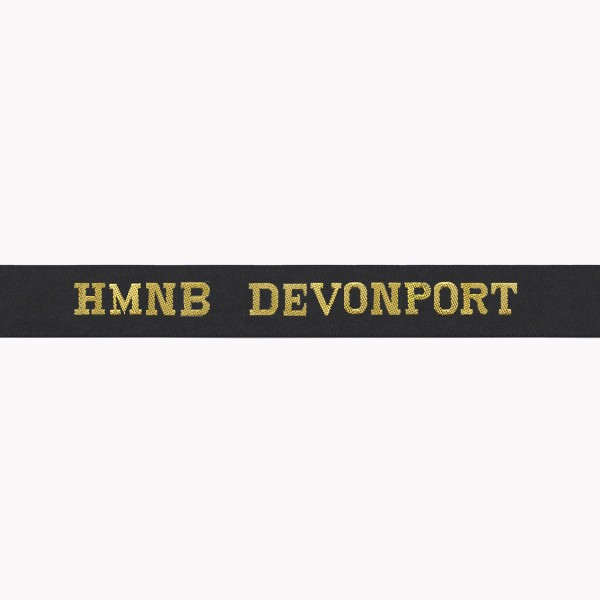 HMNB Devonport Cap Tally - Royal Navy