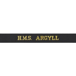 HMS Argyll Cap Tally - Royal Navy