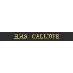 HMS Calliope Cap Tally - Royal Navy