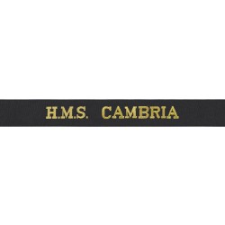 HMS Cambria Cap Tally - Royal Navy