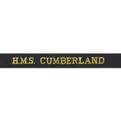 HMS Cumberland Cap Tally - Royal Navy