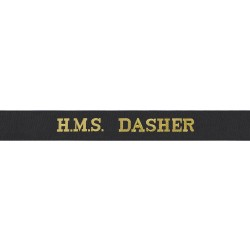 HMS Dasher Cap Tally - Royal Navy