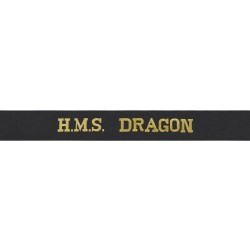 HMS Dragon Cap Tally - Royal Navy
