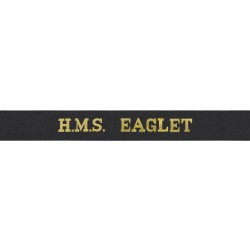HMS Eaglet Cap Tally - Royal Navy