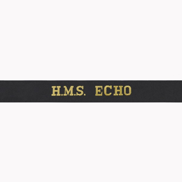 HMS Echo Cap Tally - Royal Navy