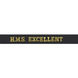 HMS Excellent Cap Tally - Royal Navy