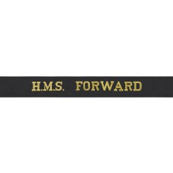 HMS Forward Cap Tally - Royal Navy
