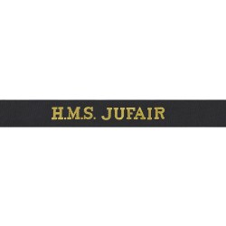 HMS Jufair Cap Tally - Royal Navy