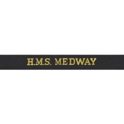 HMS Medway Cap Tally - Royal Navy
