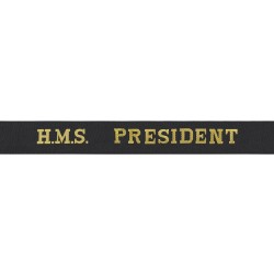 HMS President Cap Tally - Royal Navy