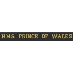 HMS Prince of Wales Cap Tally - Royal Navy