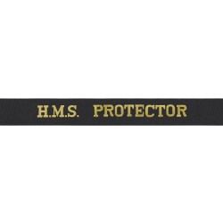 HMS Protector Cap Tally - Royal Navy