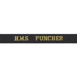 HMS Puncher Cap Tally - Royal Navy