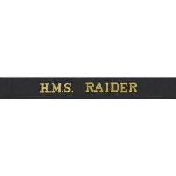 HMS Raider Cap Tally - Royal Navy