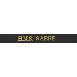 HMS Sabre Cap Tally - Royal Navy