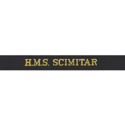 HMS Scimitar Cap Tally - Royal Navy