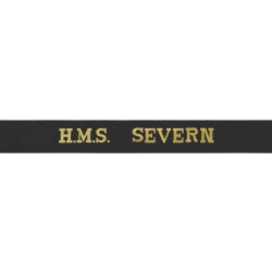 HMS Severn Cap Tally - Royal Navy