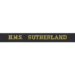 HMS Sutherland Cap Tally - Royal Navy