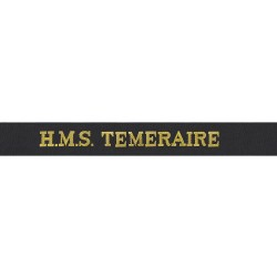 HMS Temeraire Cap Tally - Royal Navy