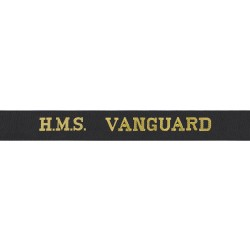 HMS Vanguard - Royal Navy Cap Tally