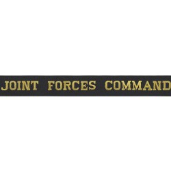 Joint Force Command Cap Tally - Royal Navy