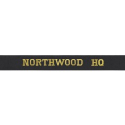 Northwood HQ - Royal Navy Cap Tally