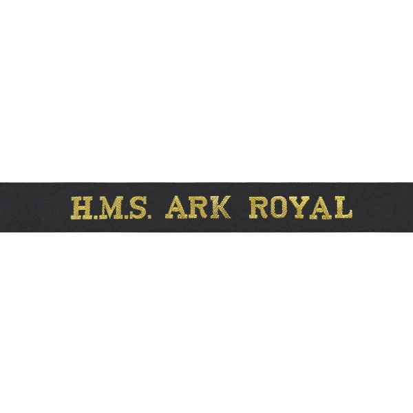 HMS Ark Royal Cap Tally - Royal Navy