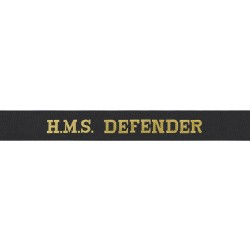 HMS Defender Cap Tally - Royal Navy