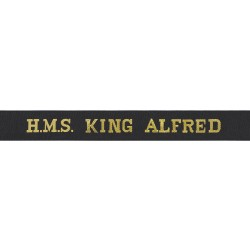 HMS King Alfred Cap Tally - Royal Navy