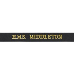 HMS Middleton Cap Tally - Royal Navy