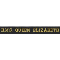 HMS Queen Elizabeth Cap Tally - Royal Navy