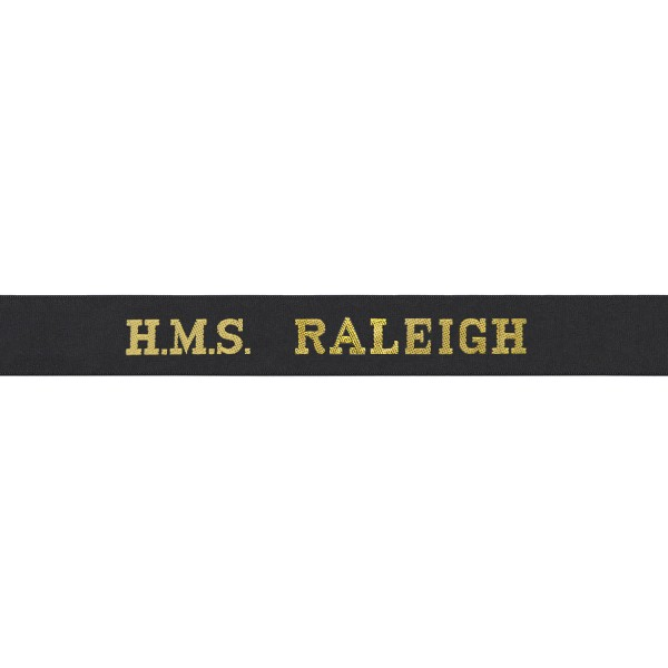 HMS Raleigh Cap Tally - Royal Navy