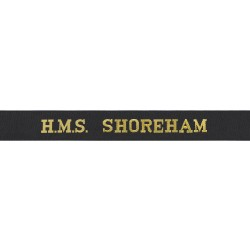 HMS Shoreham Cap Tally - Royal Navy