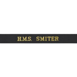 HMS Smiter Cap Tally - Royal Navy