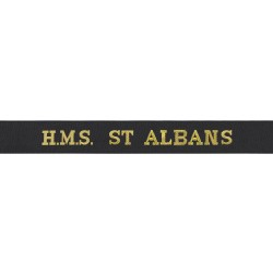 HMS St Albans Cap Tally - Royal Navy