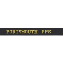 Portsmouth Fishery Protection Squadron Cap Tally - Portsmouth FPS - Royal Navy Cap Tally