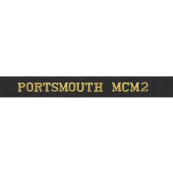 Portsmouth Mine Countermeasure 2 Cap Tally - Portsmouth MCM2 - Royal Navy Cap Tally