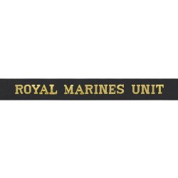 Royal Marines Unit - Royal Navy Cap Tally