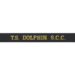 Training Ship Dolphin - TS Dolphin - Royal Navy Cap Tally