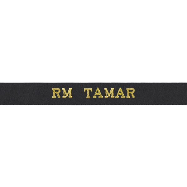 RM TAMAR - Royal Navy Cap Tally