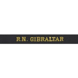 R.N. Gibraltar - Royal Navy Cap Tally